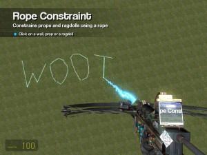 Exemple d'utilisation du ToolGun sous Gmod