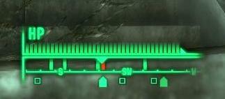 La boussole et détecteur de vie de Fallout 3