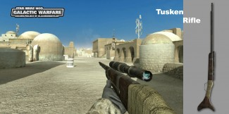 Le Fusil Tusken dans le mod Galactic Warfare